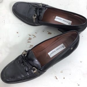 Etienne Aigner York Black Leather Loafers 9N
